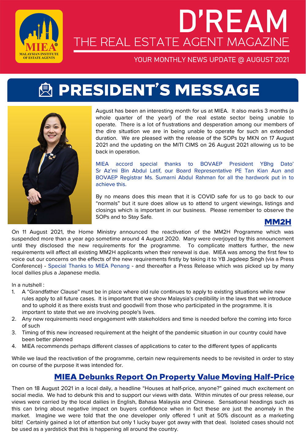 D'REAM Bulletin Issue - August 2021