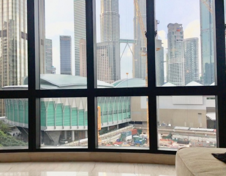 Views of Petronas Twin Towers from Living Room