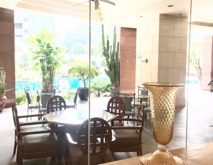 Views of the Swimming Pool from the Lobby