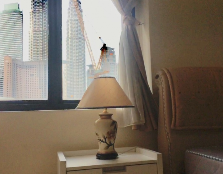 Views of Petronas Twin Towers from the bedroom